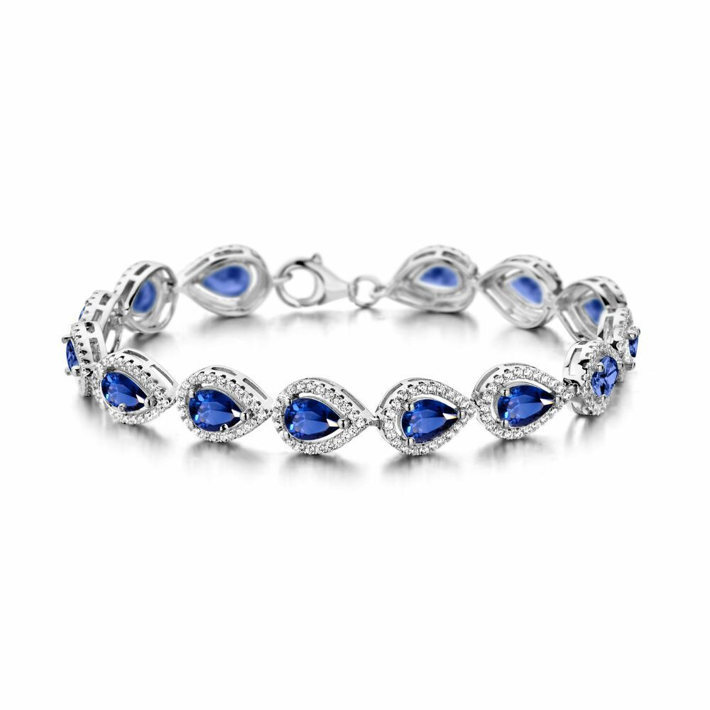 Silver Rose Armband BR6290BLU
