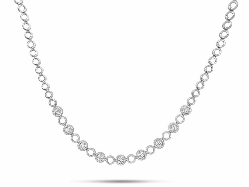 Silver Rose Ketting CH2168W