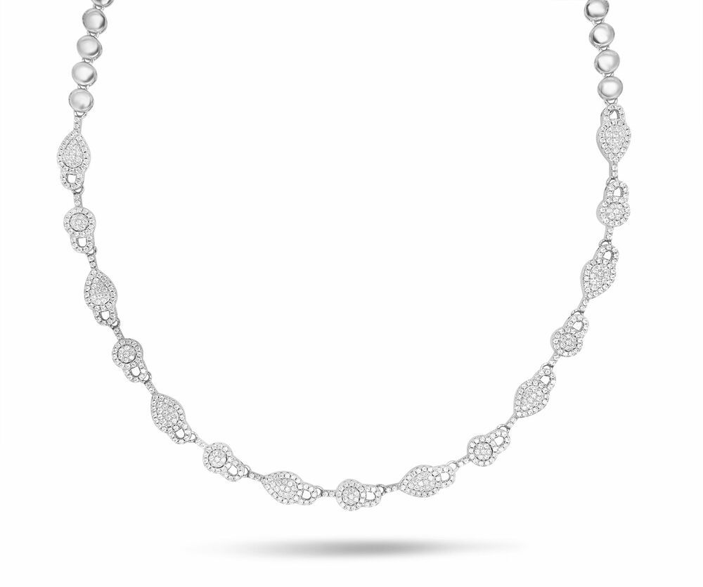 Silver Rose Ketting CH2180W