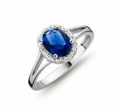 Silver Rose Ring R3045BLU