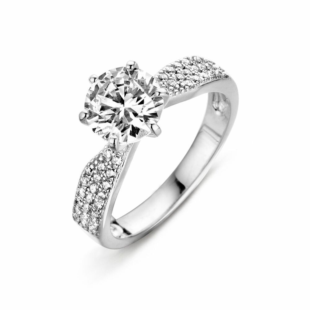 Silver Rose Ring R6392W